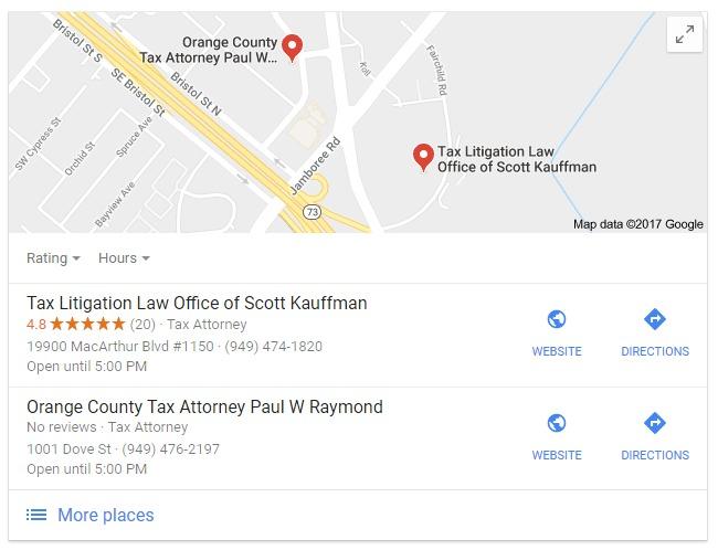 Image of Google MAP Listings