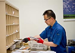 Picture of USPS sorting demand letters