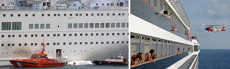Image of 2 cruise ships
