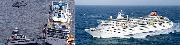Image of two cruise ships