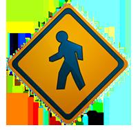 Image of pedestrian sign